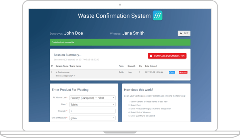 waste-confirmation-system